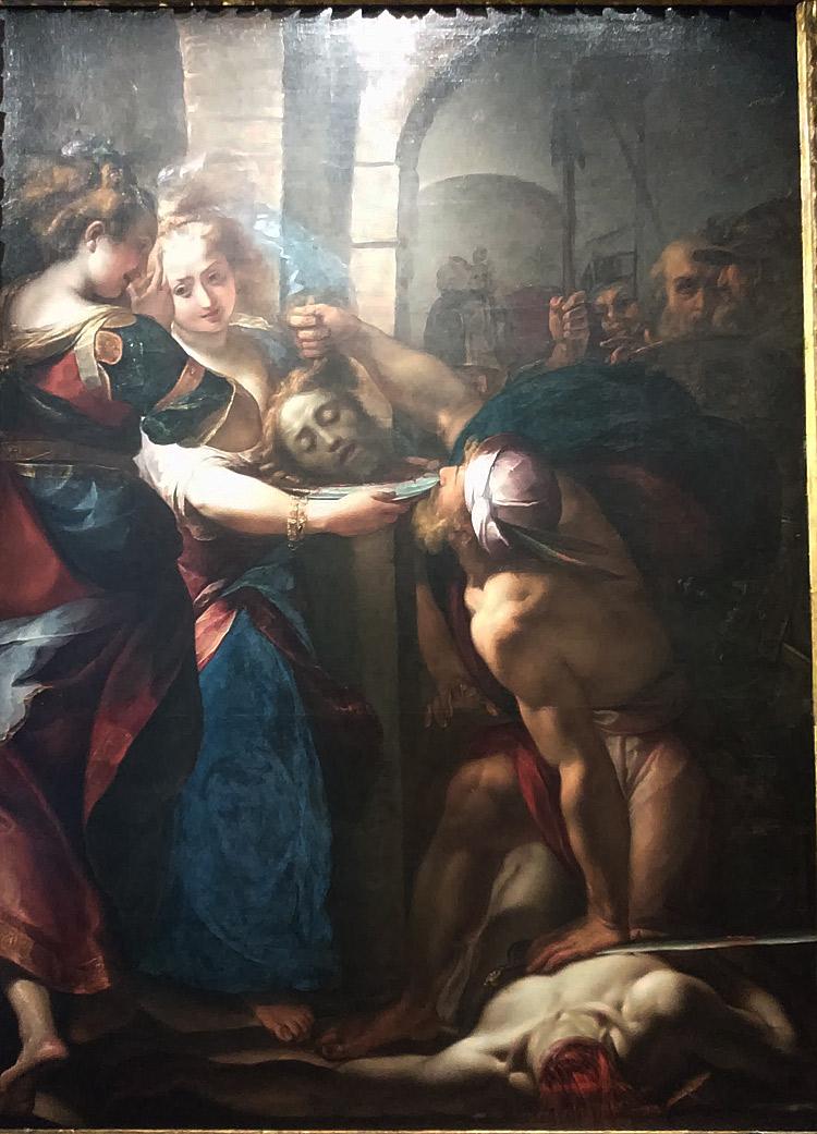 Giulio Cesare Procaccini, Decollazione del Battista (1608-1610 circa; olio su tela, 244 x 178 cm; Collezione privata)