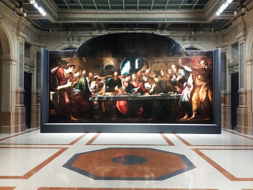 Giulio Cesare Procaccini, Ultima Cena (1618; olio su tela, 490 x 855 cm; Genova, Basilica della Santissima Annunziata del Vastato)