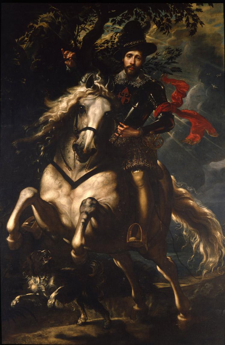 Pieter Paul Rubens, Giovan Carlo Doria a cavallo (1606; olio su tela, 265 x 188 cm; Genova, Galleria Nazionale della Liguria a Palazzo Spinola)