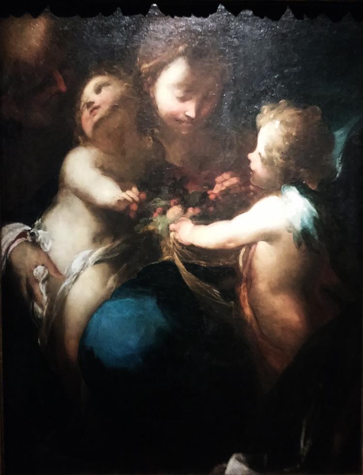 Valerio Castello, Madonna delle ciliegie (1645 circa; olio su tela, 91 x 70 cm; Collezione privata)