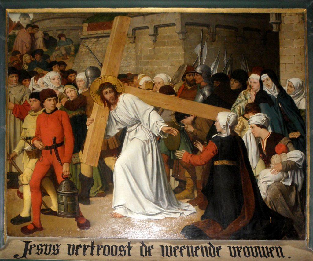 Louis Hendrix e Frans Vinck, Via Crucis, ottava stazione: Gesù incontra le donne di Gerusalemme