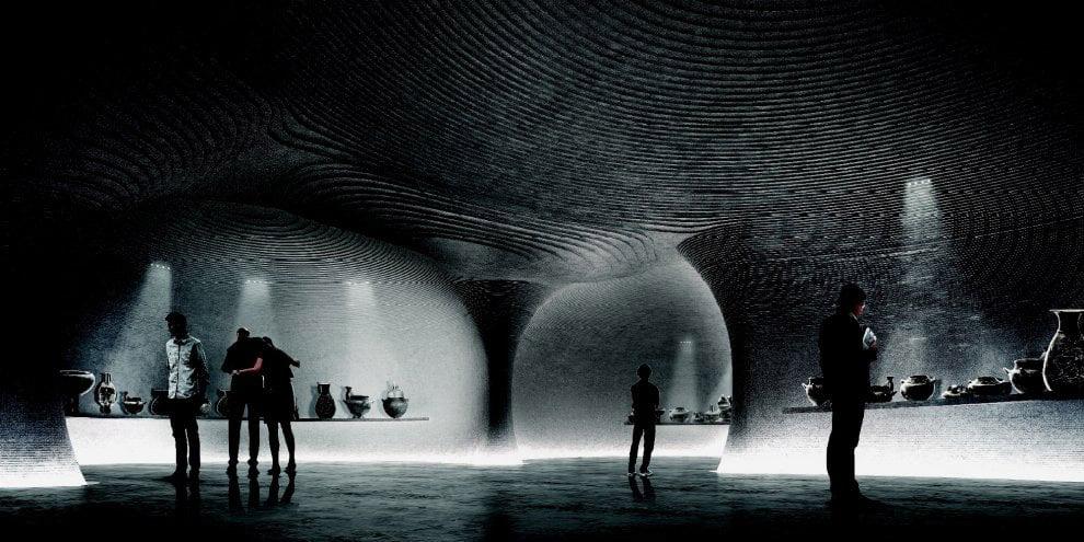Mario Cucinella, Progetto per il Museo Etrusco di Palazzo Bocconi-Rizzoli-Carraro, Milano
