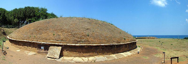 Populonia, Tomba etrusca a tumulo
