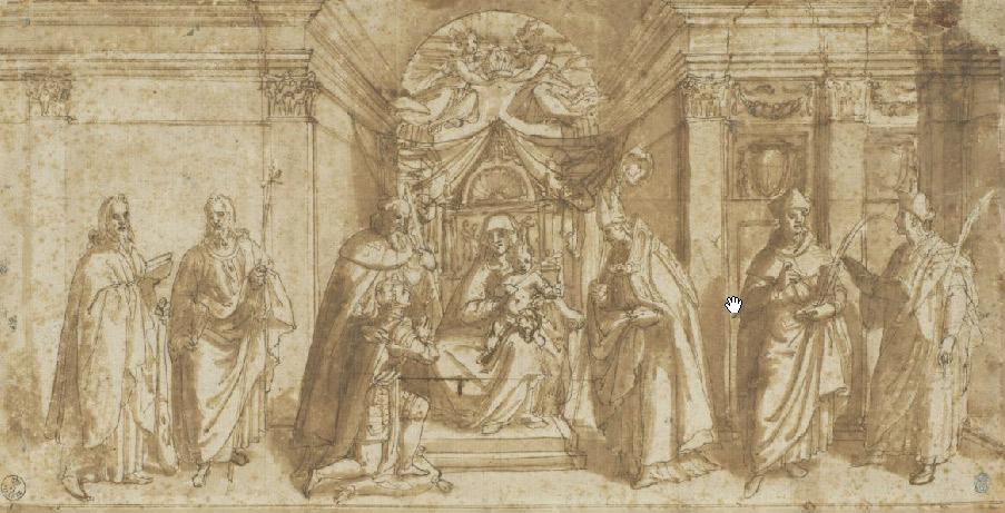 Luis de Velasco, Fernando de Antequera davanti alla Virgen de Gracia