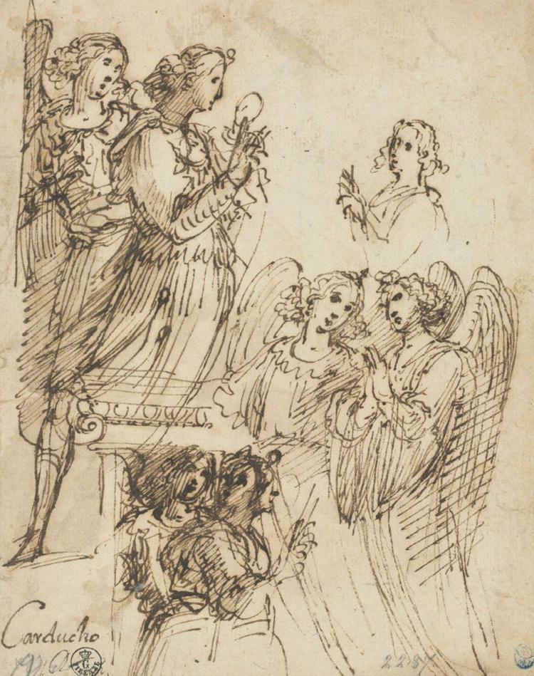 Vicente Carducho, Studî di angeli