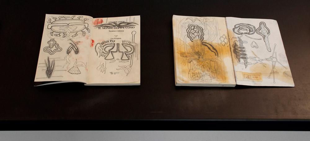 Disegni sui libri di Simone Pellegrini