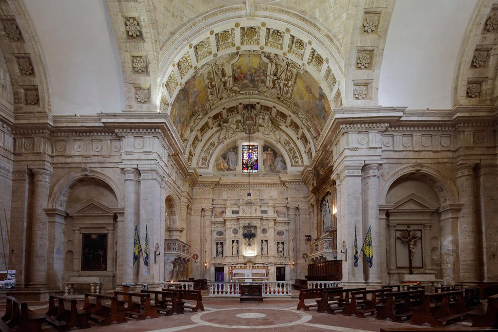 Interno del tempio di San Biagio. Courtesy Opere Ecclesiastiche Riunite