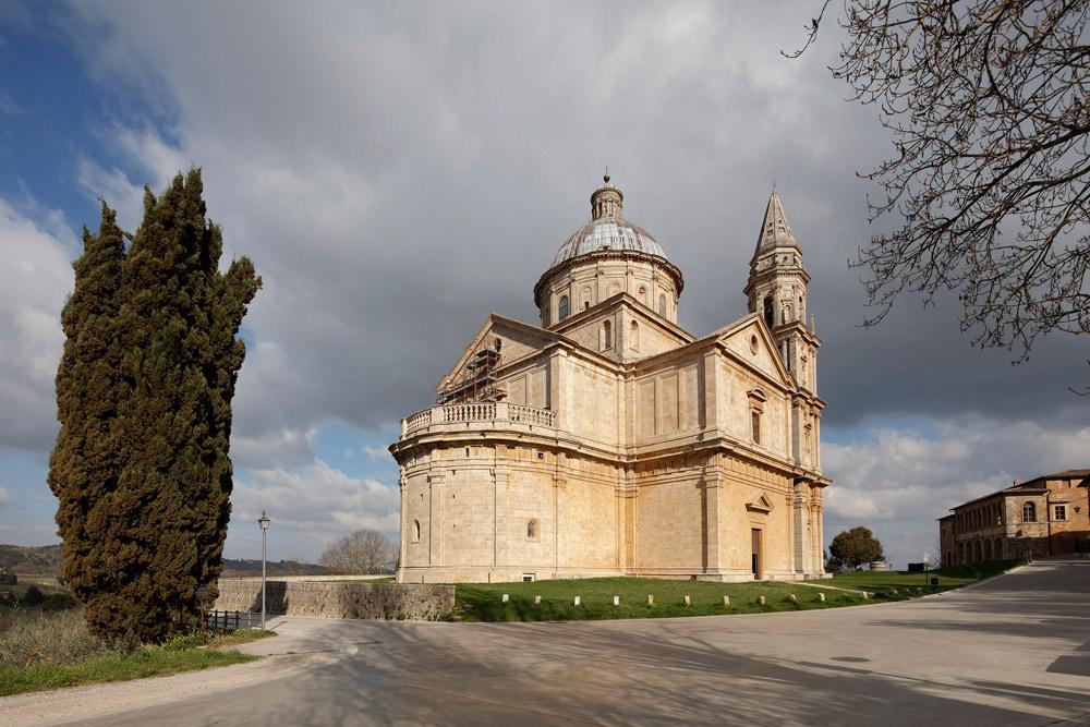 Il tempio di San Biagio a Montepulciano. Courtesy Opere Ecclesiastiche Riunite