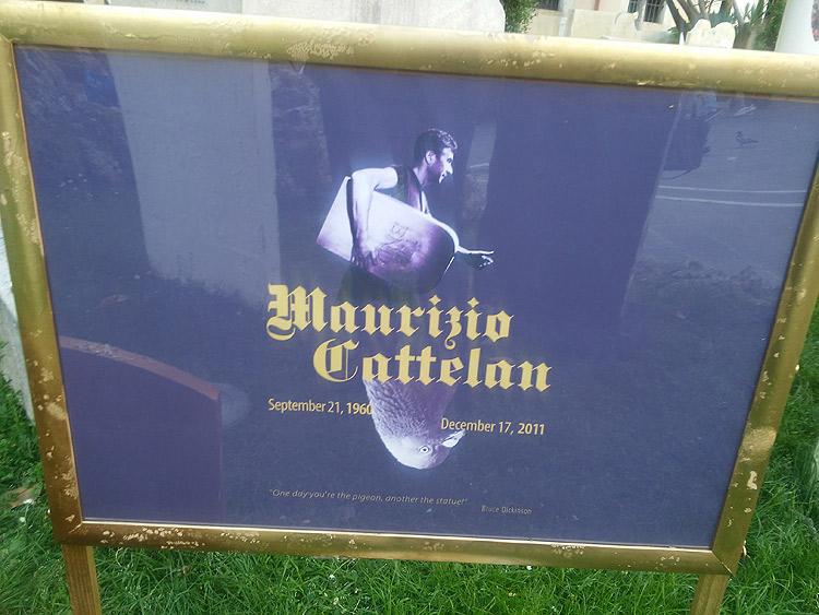 Eternity, la nuova opera di Maurizio Cattelan