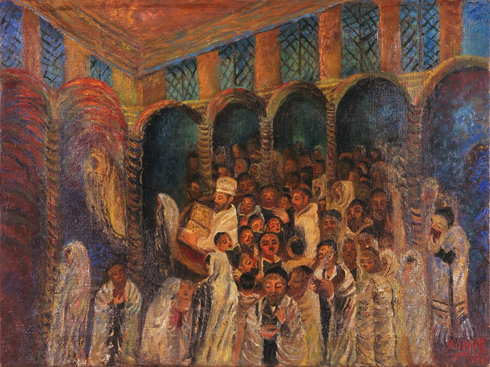 Antonietta Raphaël, Yom kippur nella sinagoga