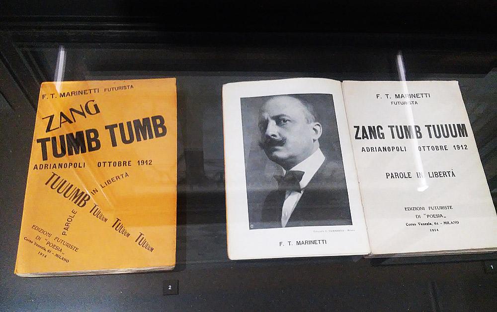 Filippo Tommaso Marinetti, due edizioni di Post Zang Tumb Tuuum
