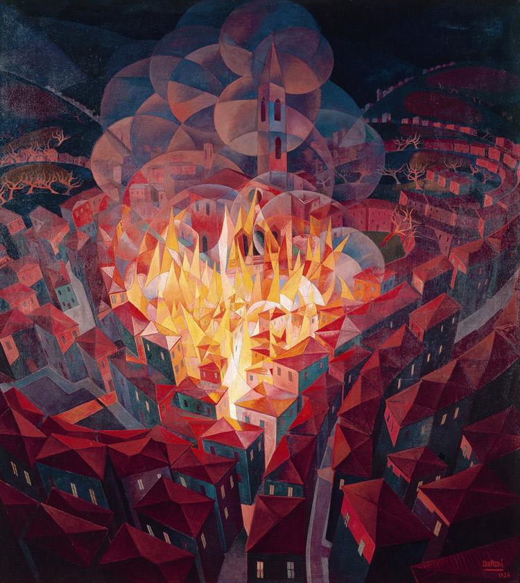 Gerardo Dottori, Incendio città