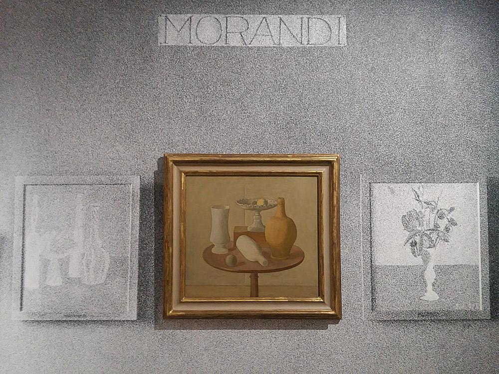 La ricostruzione della sezione su Giorgio Morandi alla mostra Das Junge Italien