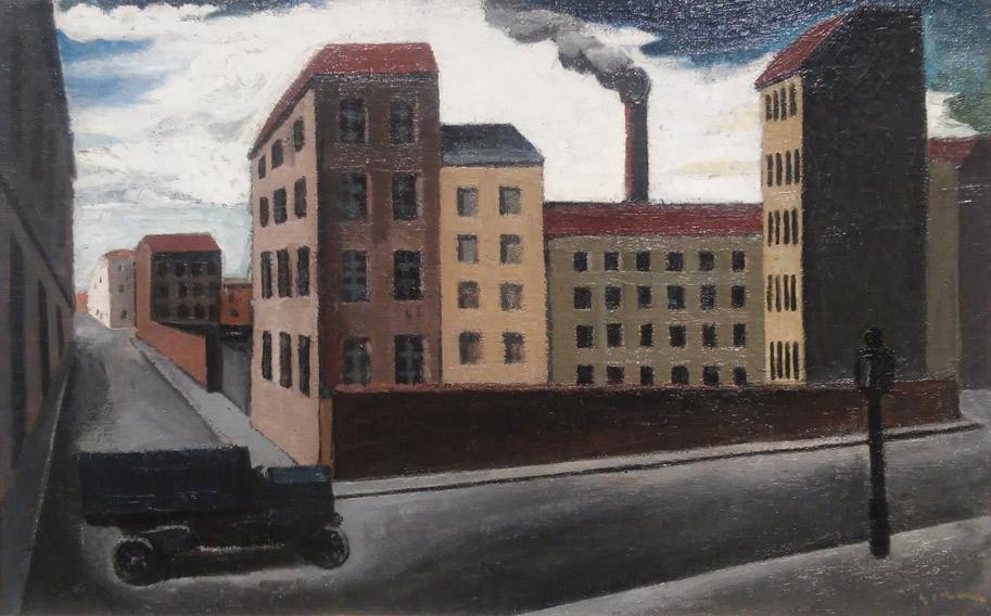 Mario Sironi, Paesaggio urbano con camion