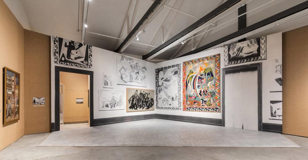Sala della mostra Post Zang Tumb Tuuum alla Fondazione Prada di Milano. Ph. Credit Delfino Sisto Legnani e Marco Cappelletti