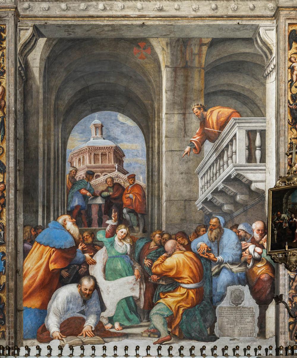 Giovanni Antonio de' Sacchis detto il Pordenone, Disputa di santa Caterina