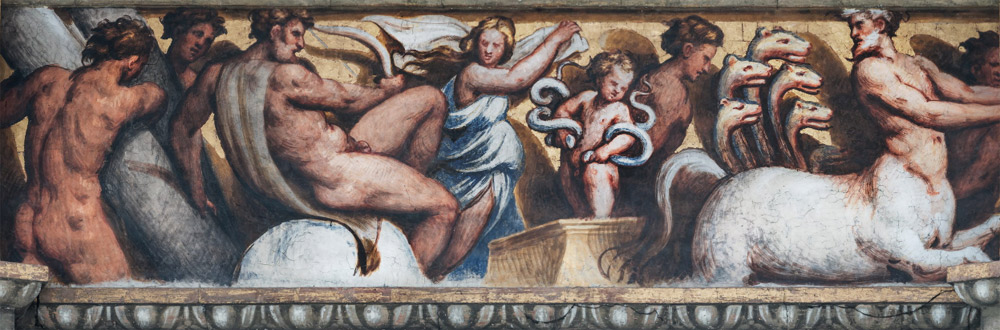 Scene del fregio: le Fatiche di Ercole