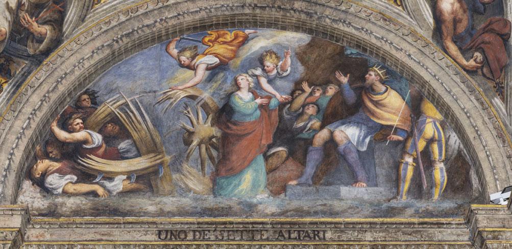 Giovanni Antonio de' Sacchis detto il Pordenone, Martirio di santa Caterina