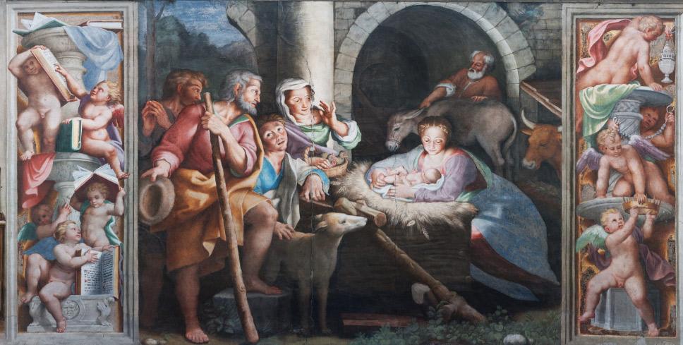 Scene del tamburo: Storie della Vergine, la Natività