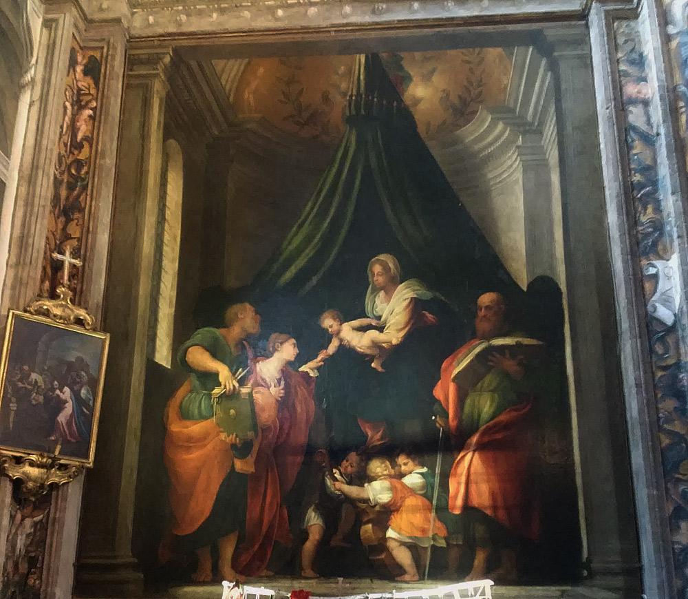 Giovanni Antonio de' Sacchis detto il Pordenone, Sposalizio mistico di santa Caterina