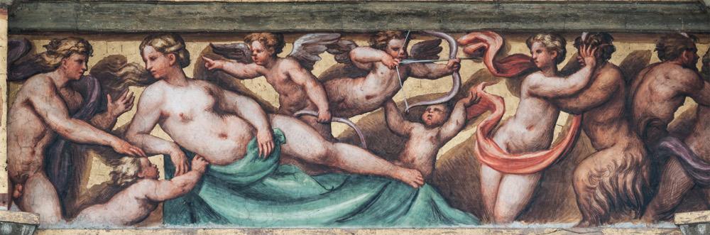 Scene del fregio: Venere e Adone