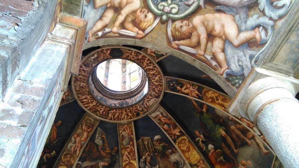 Vista della cupola affrescata dal Pordenone