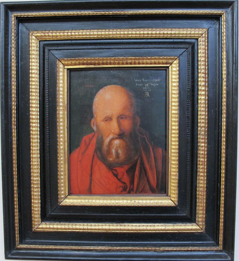 Albrecht Dürer (attribuito), Testa di vecchio (1514; olio su tavola, 33,2 x 35,6 cm; Siena, Pinacoteca Nazionale)