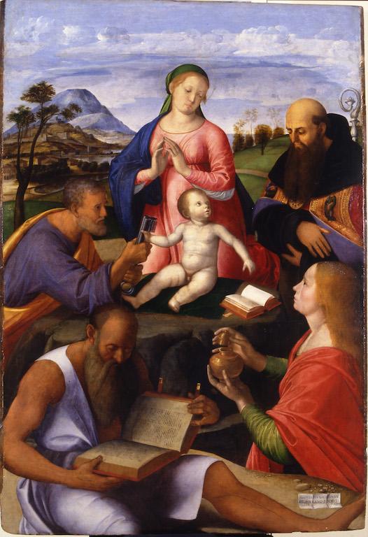Alvise Vivarini, Madonna col Bambino e i santi Pietro, Girolamo, Agostino e Maddalena