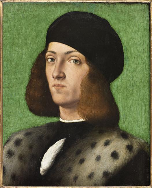 Andrea Previtali, Ritratto di giovane con pelliccia