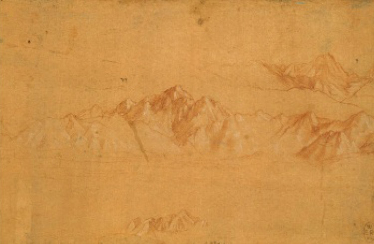 Leonardo da Vinci, Cime innevate