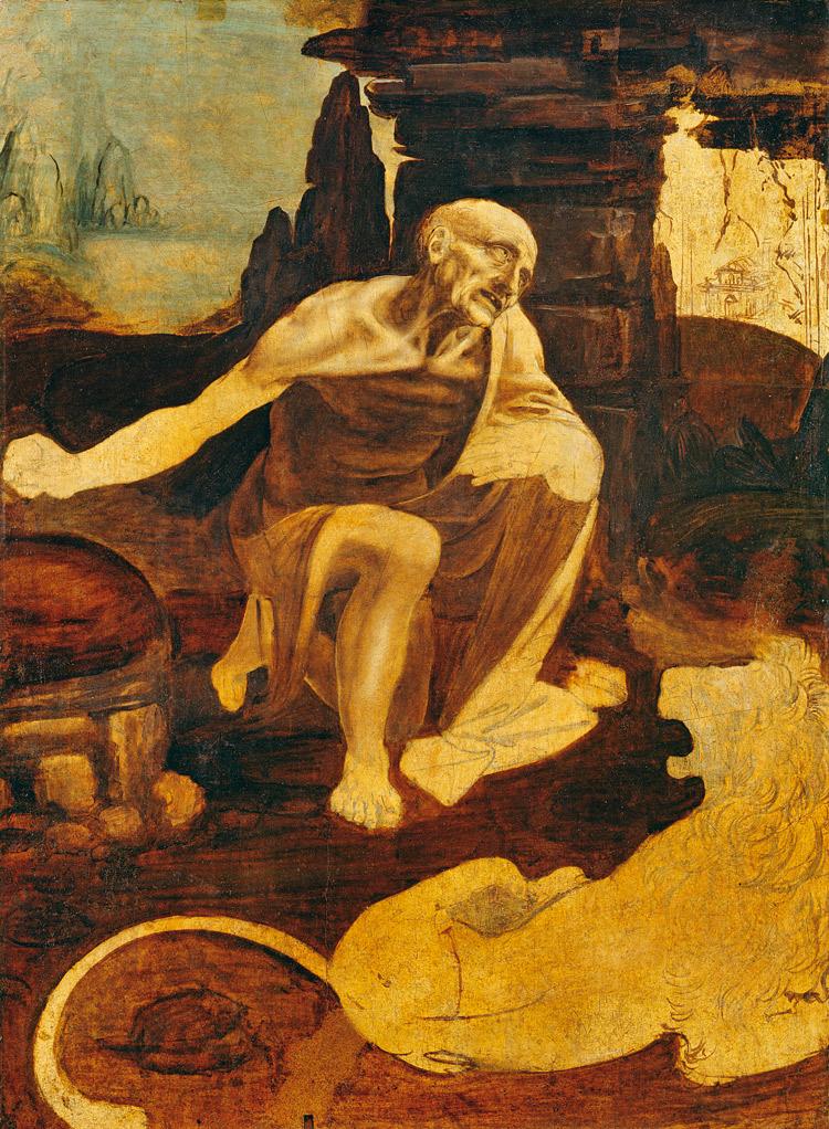 Leonardo da Vinci, San Girolamo nel deserto