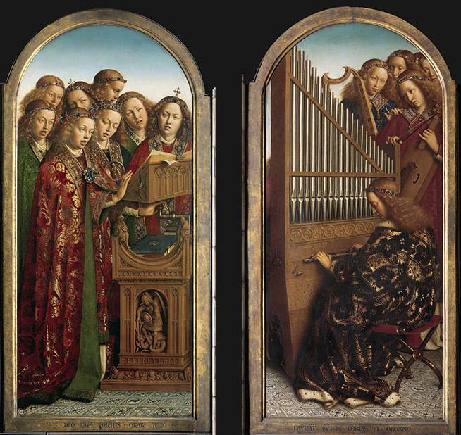 I pannelli con gli angeli. Ph. Credit KIK-IRPA