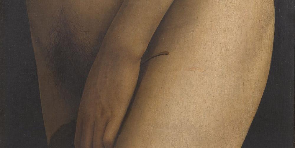 Dettaglio del corpo di Eva. Ph. Credit KIK-IRPA