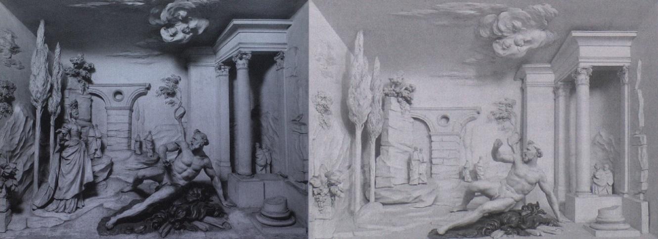 La Tentazione di san Francesco di Giacomo Serpotta, prima e dopo la sparizione della figura della meretrice