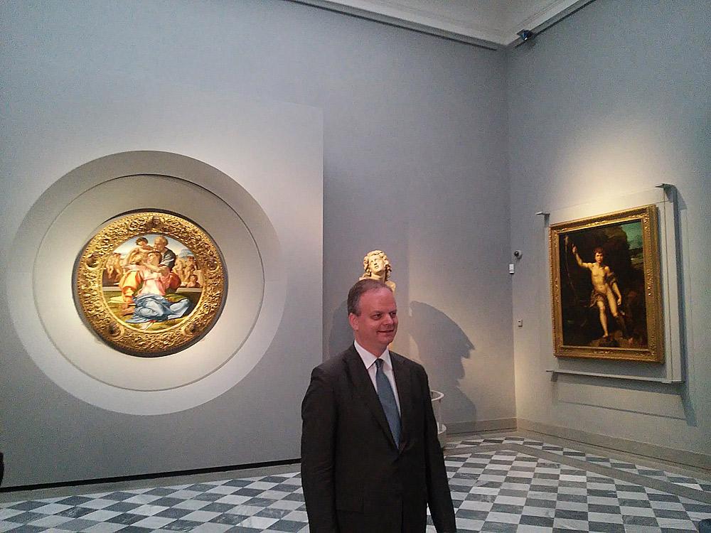 Uffizi, nuovo allestimento della Sala 41 con le opere di Michelangelo, Raffaello e fra' Bartolomeo. Ph. Credit Finestre sull'Arte