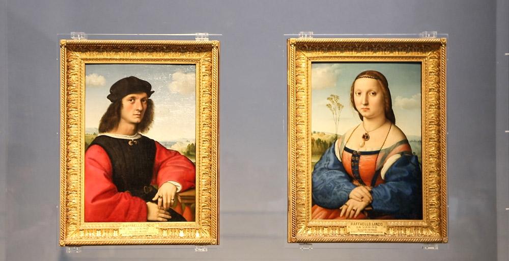 Raffaello, Ritratti dei coniugi Doni. Ph. Credit Finestre sull'Arte
