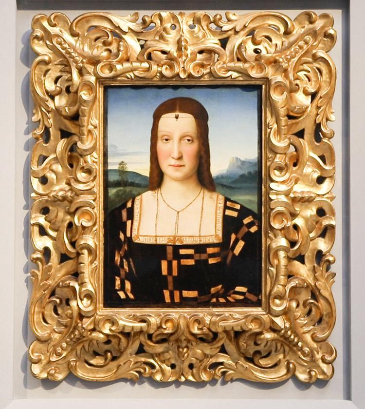 Raffaello, Ritratto di Elisabetta Gonzaga. Ph. Credit Finestre sull'Arte