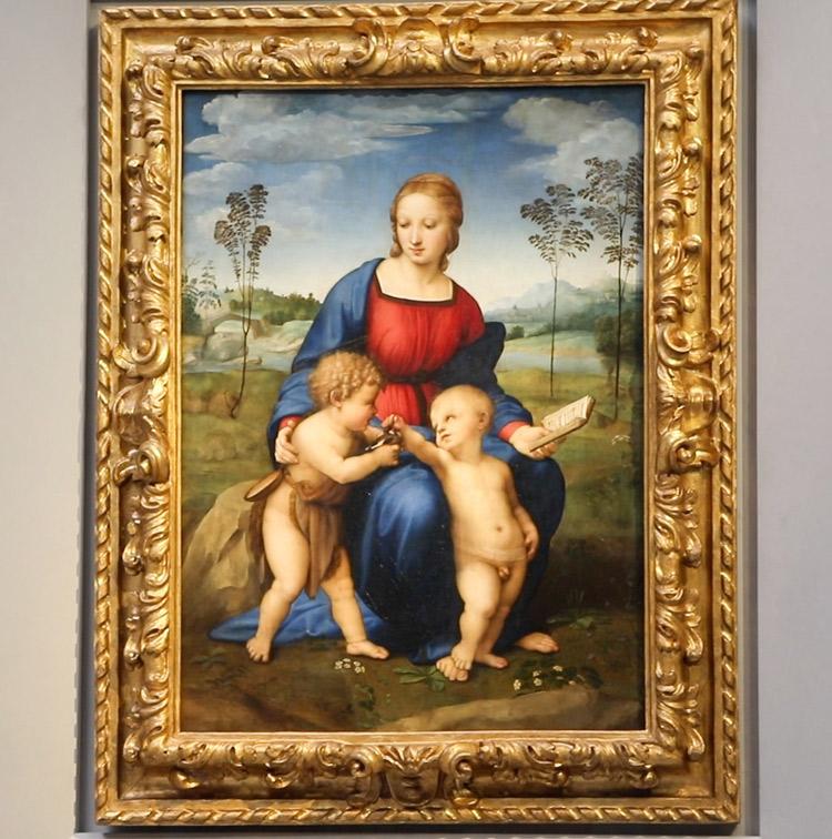 Raffaello, Madonna del Cardellino. Ph. Credit Finestre sull'Arte