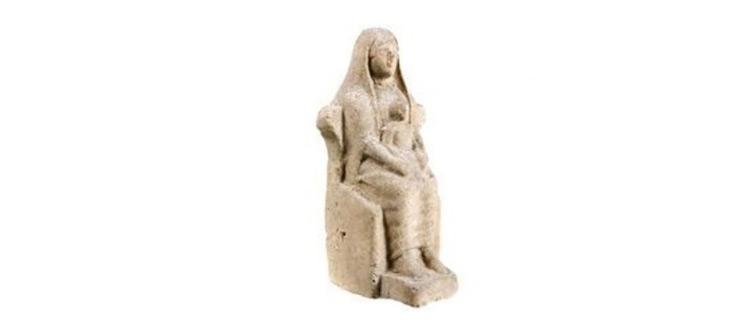 Statuetta votiva con kourotrophos