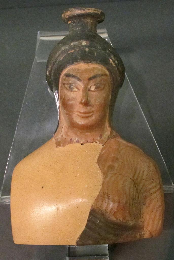 Manifattura etrusca, Balsamario a forma di busto femminile