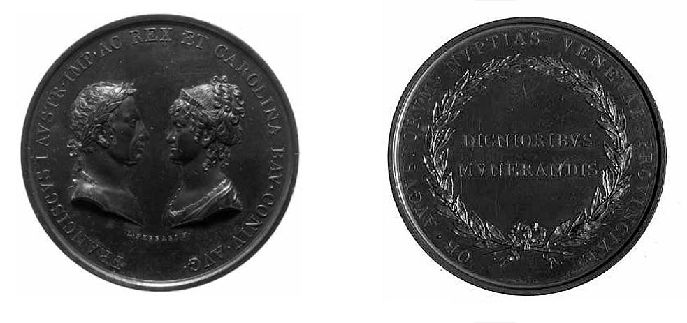Angelo Pizzi, Luigi Ferrari, Medaglia per le nozze di Francesco I e Carolina