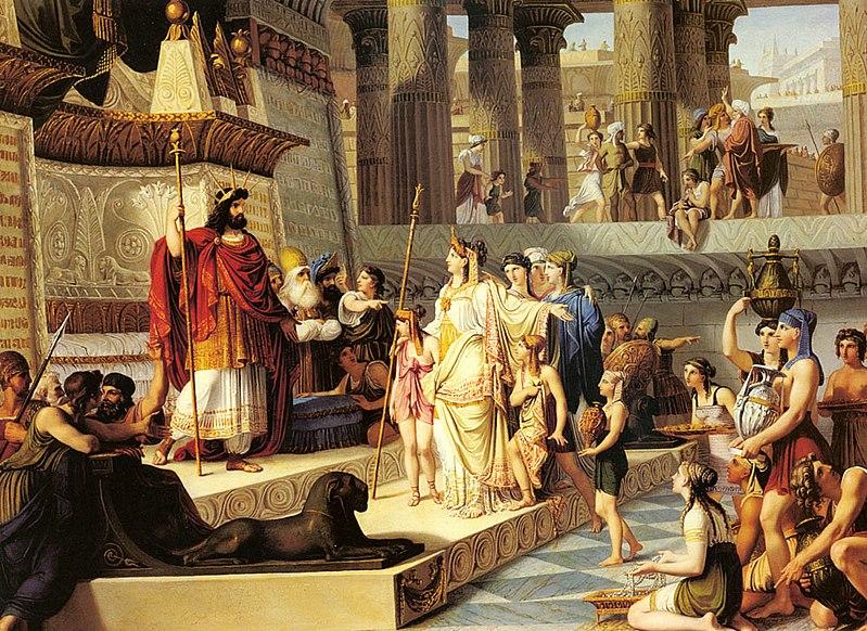 Giovanni De Min, La regina di Saba di fronte a re Salomone