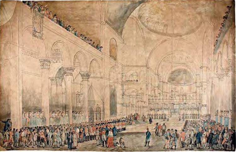 Giuseppe Borsato, Veduta di San Marco nel giorno che le Provincie Venete prestarono a Sua Maestà Imperiale il giuramento di fedeltà