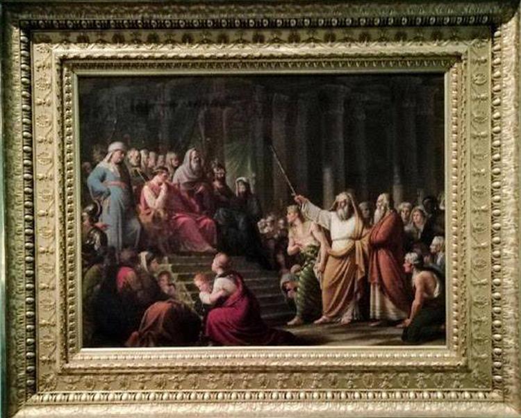 Lattanzio Querena, Mosè chiede al faraone la libertà per Israele