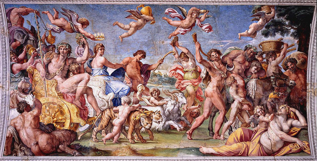 Annibale Carracci, Trionfo di Bacco e Arianna (1597-1600 circa; affresco; Roma, Palazzo Farnese)