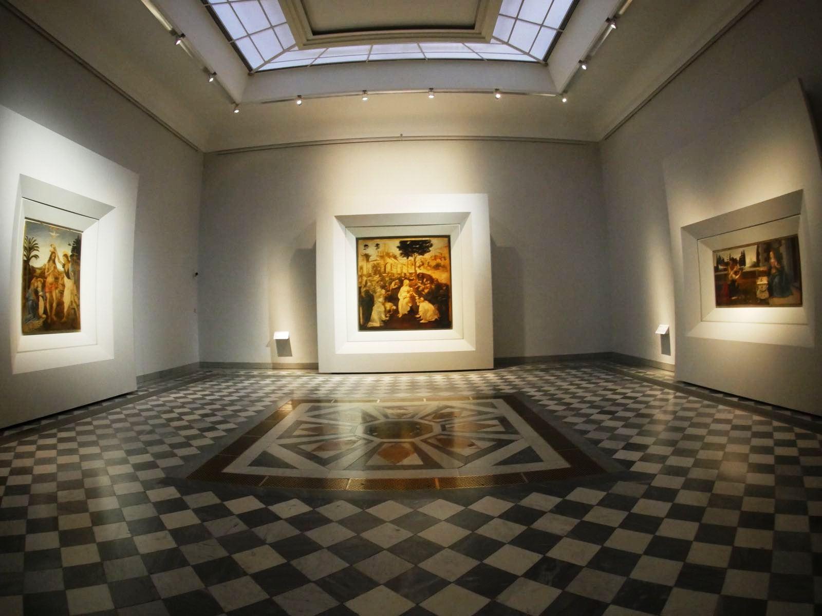 Firenze, Galleria degli Uffizi, nuovo allestimento della sala 35 dedicata a Leonardo da Vinci