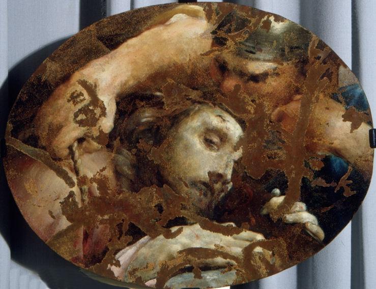 Giuseppe Maria Crespi, Cristo e il manigoldo (1735-1740 circa; olio su rame, 41 x 32 cm; Pesaro, Musei Civici di Palazzo Mosca)