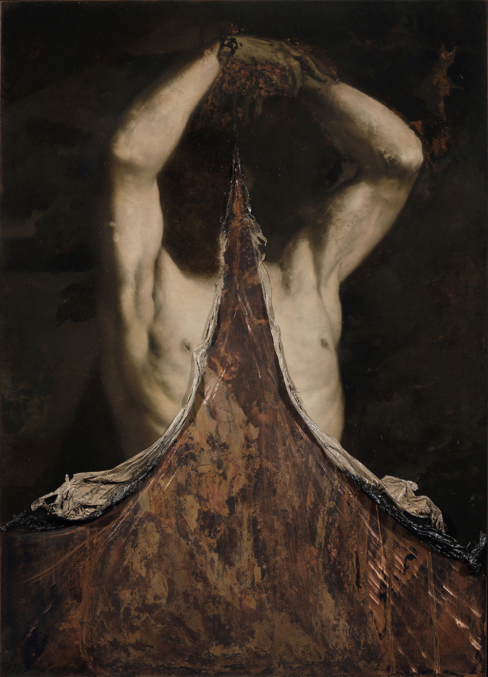 Nicola Samorì, Anulante (2018; olio su rame, 70 x 50 cm. Courtesy Monitor Gallery, Roma)