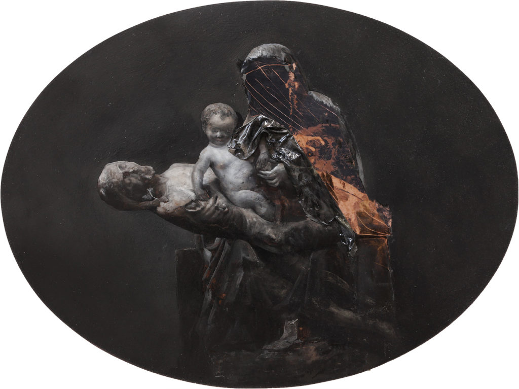Nicola Samorì, Corpus Domini (2017; olio su rame, 40 x 30 cm)