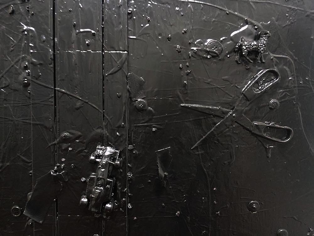 Andrea Bianconi, Map 13 (2013; tecnica mista su tela/mixed media on canvas, 180 x 145 cm; collezione privata/private collection, Verona)